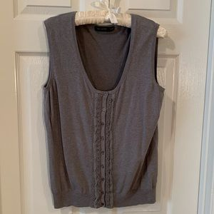 The Limited gray button-down sleeveless vest